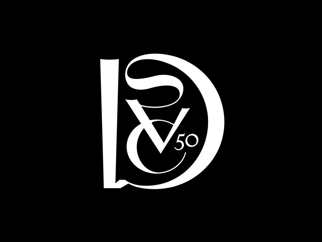 DSVC 50th Monogram design typography mark tractorbeam branding monogram logo