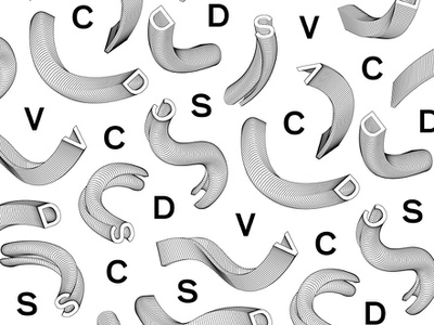 DSVC Pattern experiment lines typography type branding tractorbeam dsvc