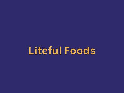 Liteful Foods Logo identity design typography mark logo branding tractorbeam