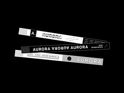 Aurora Wrist Bands pattern abstract design typography logo branding tractorbeam