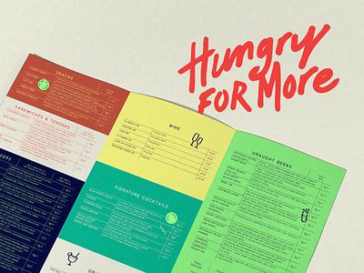 GRUB Menus beer drink shake glass icon color menu identity design typography logo tractorbeam branding