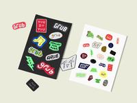 Grub Stickers