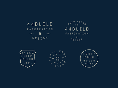 44 Build Stamps tractorbeam branding typography mark design identity seal enclosure circle type stamp crest