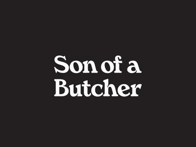Son of a Butcher Logotype logotype vector lettering identity typography mark branding logo tractorbeam