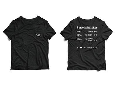 SoB T-shirt white black monogram lettering type identity design typography logo tractorbeam branding