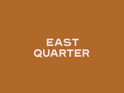 East Quarter Logo logotype type identity mark logo branding tractorbeam
