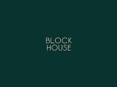 Block House Logo branding tractorbeam logo mark typography design identity type lettering