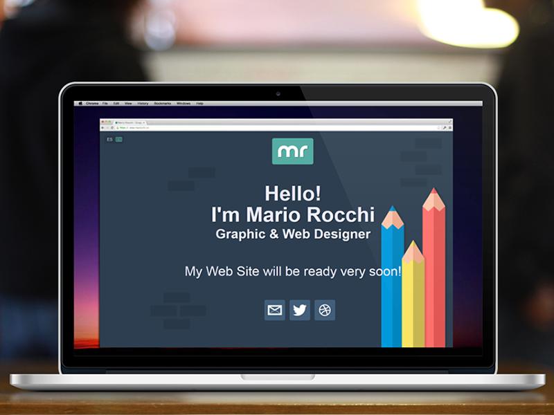 My New Portfolio design bootstrap marocchi portfolio website flat uiux