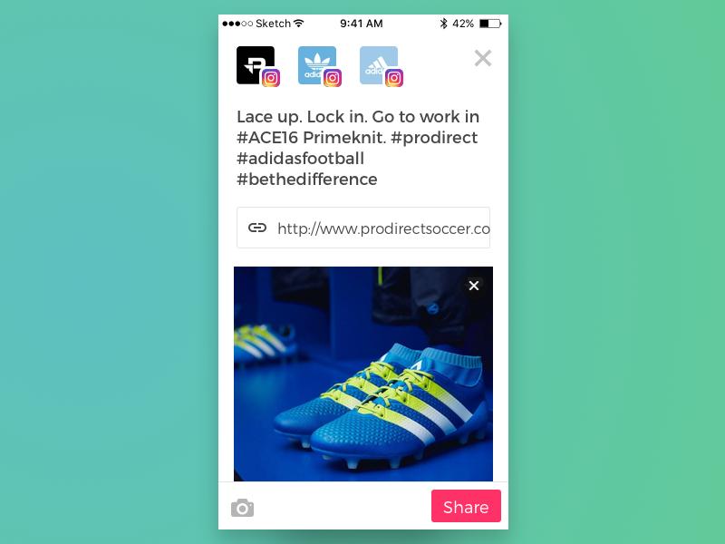 Sharing App  iphone ui mobile ios social media marketing design app