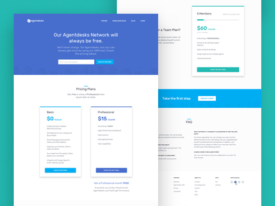 Agentdesks : Pricing real estate landing page website design ux ui page pricing price payment landing cards