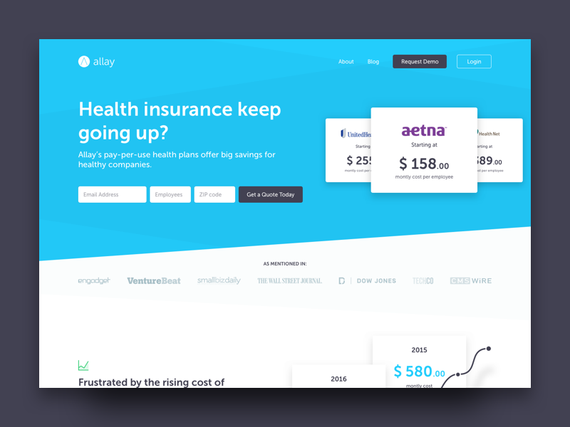 👨‍⚕️ 👩‍⚕️  Allay Landing Page  website web design marketing health healthcare landing page homepage