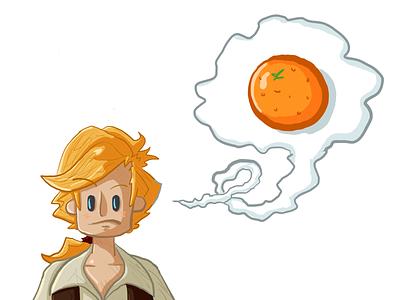 What Rhymes w/ Orange? illustration doodle fanart monkey island guybrush threepwood