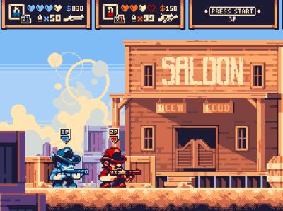 Red Dead Pocket Rumble game pixel gaming pixel art illustration