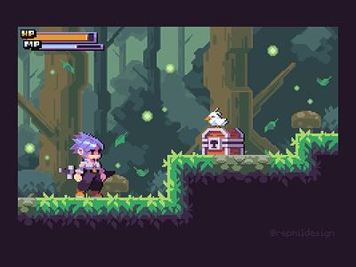 Forest Treasure design game gaming pixel pixel art illustration