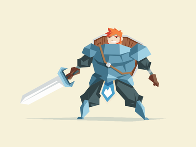 The Knight illustration vector character color knight drawing sketch concept art indie dev video game