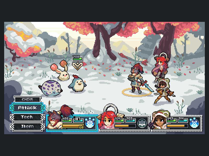 'I Am Setsuna' Pixels pixel art illustration gaming development game design pixel