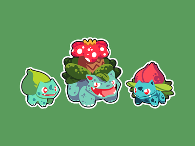Blossom Bros. game dev sticker gaming design pokemon illustration