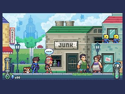 A Stroll Through Town game dev pixel art dev game gaming illustration