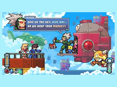 Encounter with the Bonnes game dev pixel art dev game gaming illustration