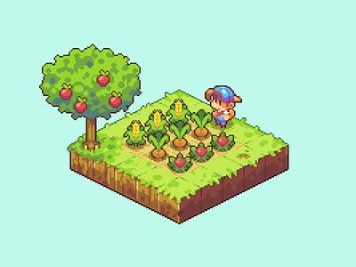 Farmer's Crop game dev pixel art dev game gaming illustration