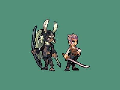 The Sky Pirate Duo game dev pixel art dev game gaming illustration