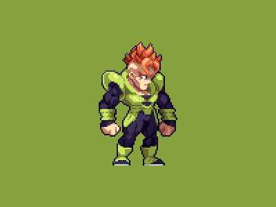 Android 16 pixel art illustration development game design pixel