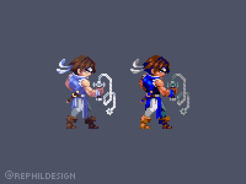 Richter pixel art illustration development game design pixel