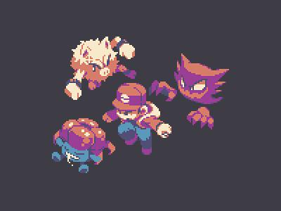 Poké Trainer illustration design game gaming pixel pixel art