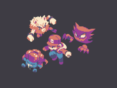 Poké Trainer illustration design game gaming pixel pixel art