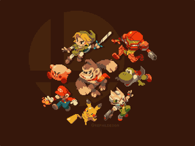 The Front-Runners illustration game gaming pixel pixel art