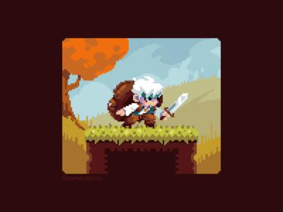 The Adventurous Merchant pixel gaming development game illustration pixel art