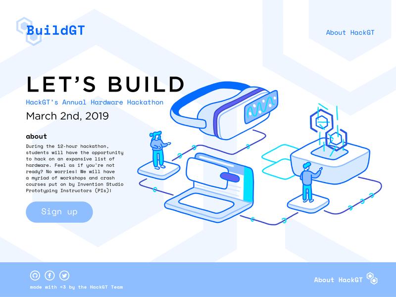 BuildGT hackgt buildgt illustration isometric web design