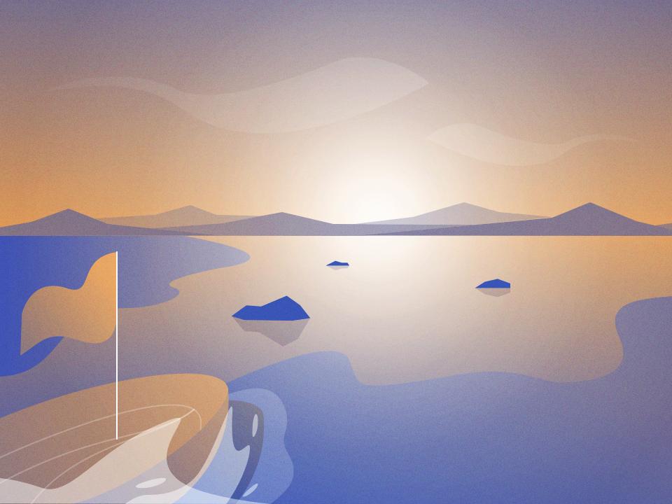 Setting Sail sunrise landscape sail boat sea
