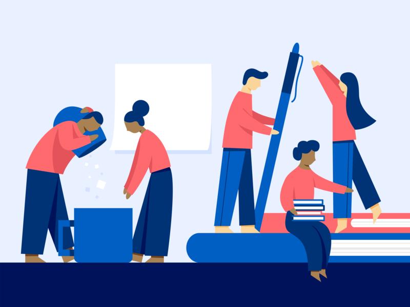 NPR Help adobe illustrator npr help people illustration