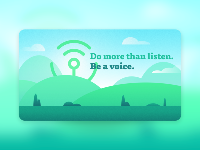Community Voices Initiative graphic design illustration npr community voices banner