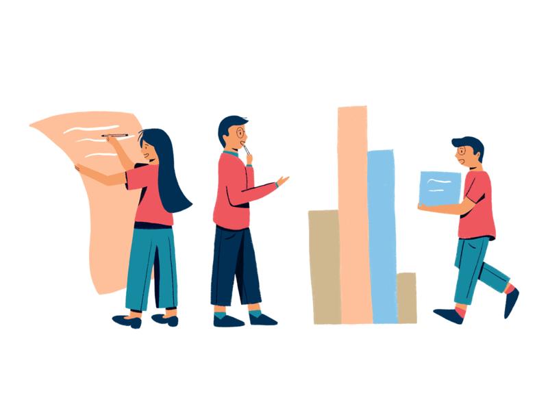 Teamwork teamwork procreate illustration people