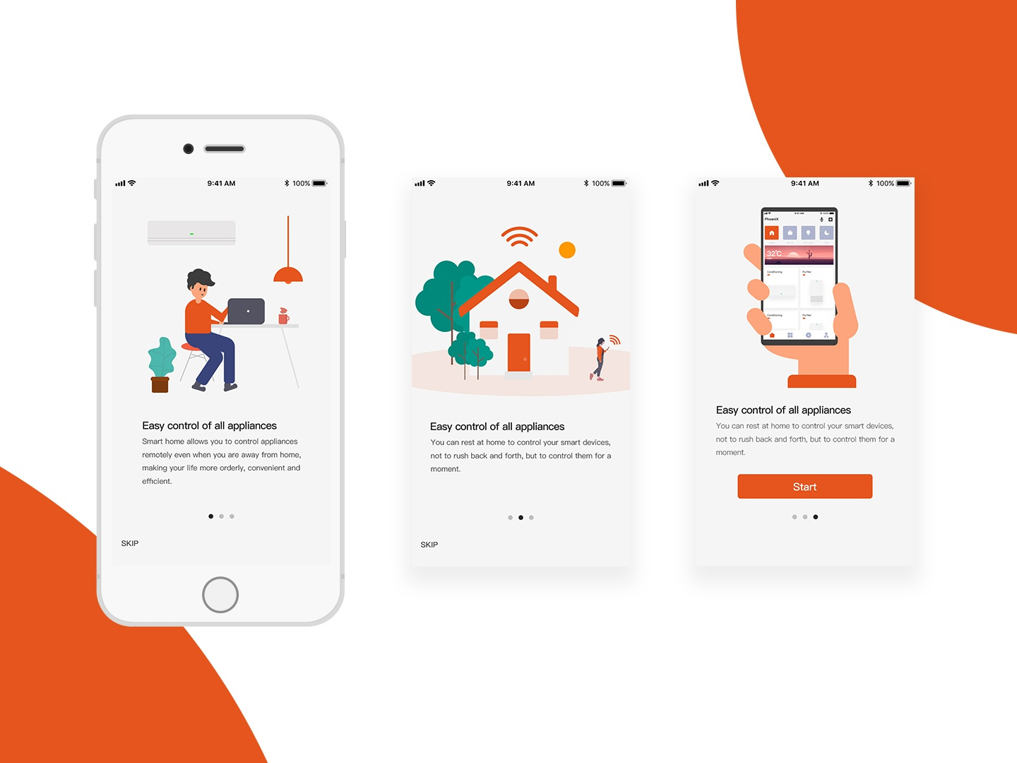 Smart Home Guide pages app ui illustration
