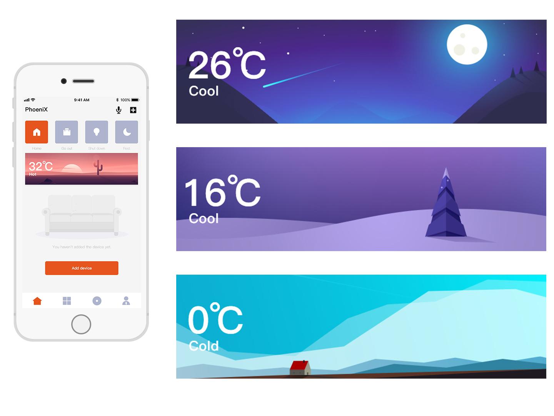 Smart Home APP Scene page design app ui illustration