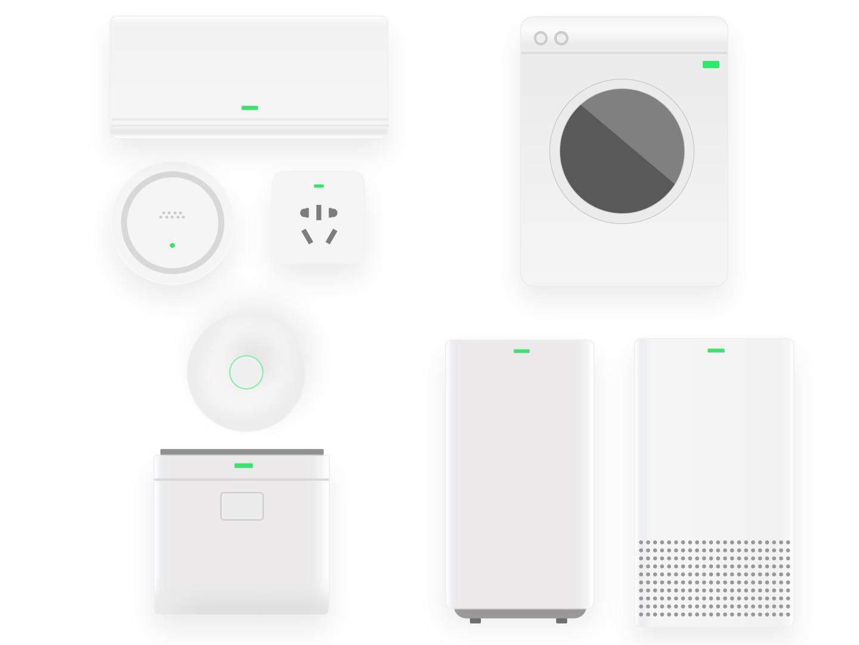 Smart Home APP devices icon app ui illustration