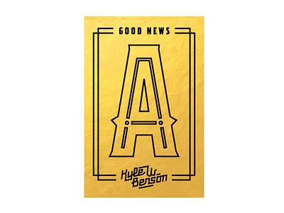Good News Stickers chrome good news typeface development wip inline