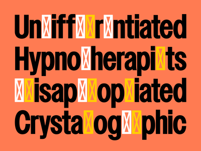 Nudge Free Trial font wip typeface