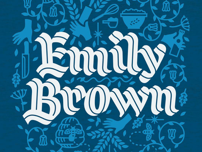 Emily Brown t-shirt inline calligraphy lettering