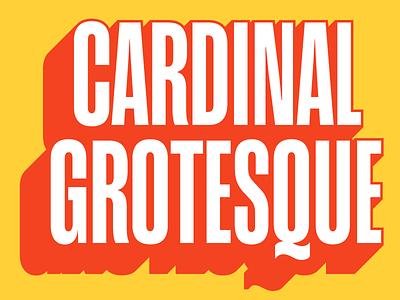 ❤ Introducing: Cardinal Grotesque ❤ sign painter sign-painting neo-grotesque titling grotesque type design release typeface