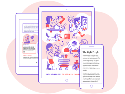 Intercom on Customer Engagement illustration ebook