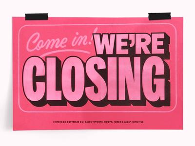 Come in! lettering riso