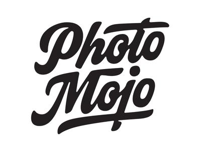 Photo Mojo hand lettering lettering logo