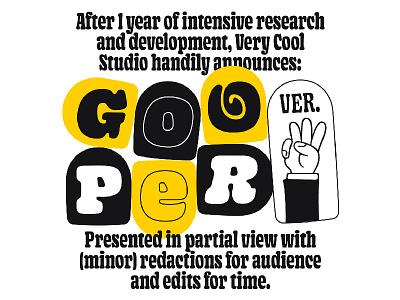 Gooper V0.3 font wip typeface