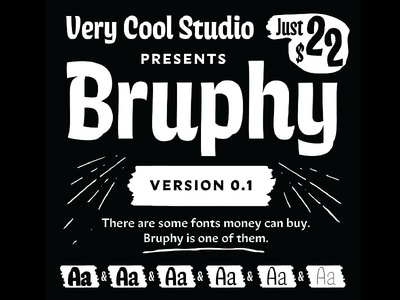 Introducing: Bruphy! future fonts release font wip typeface