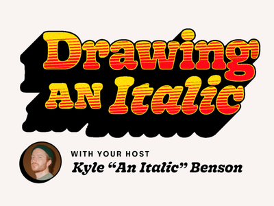 Drawing an Italic typography lettering type design skillshare