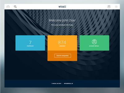 Wisall Ui interface saas design web gui ui